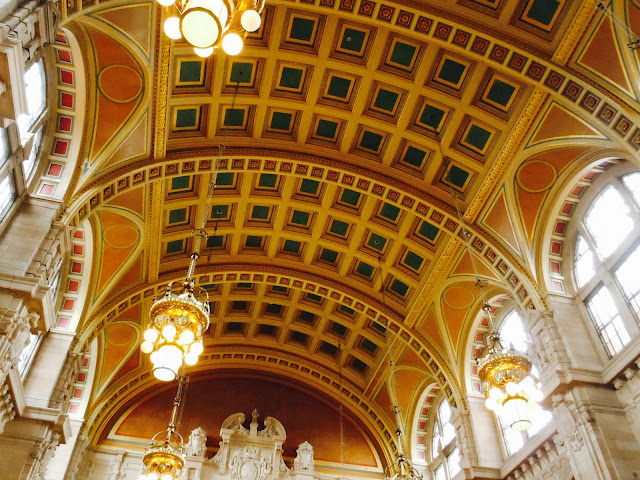 Kelvingrove, main hall ceiling.