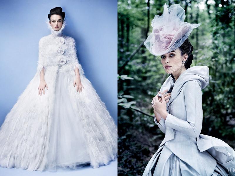 Keira Knightley cantik dengan pakaian Rusia kuno dan Serbia Artis cantik