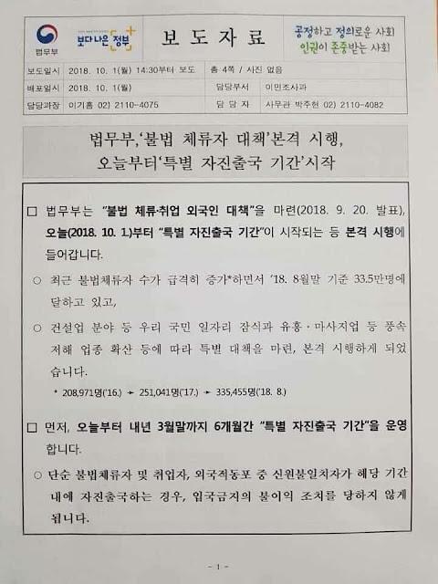 surat putusan menteri kehakiman korsel