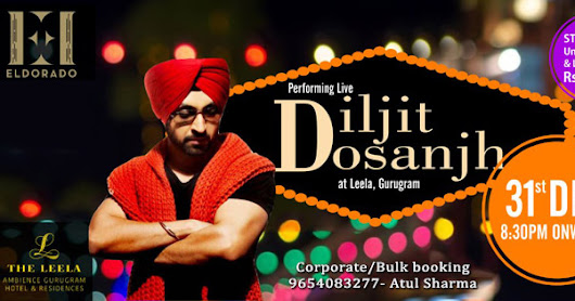 New Year Bash With Diljit Dosanjh. Book Tickets on www.bookmyevent.com