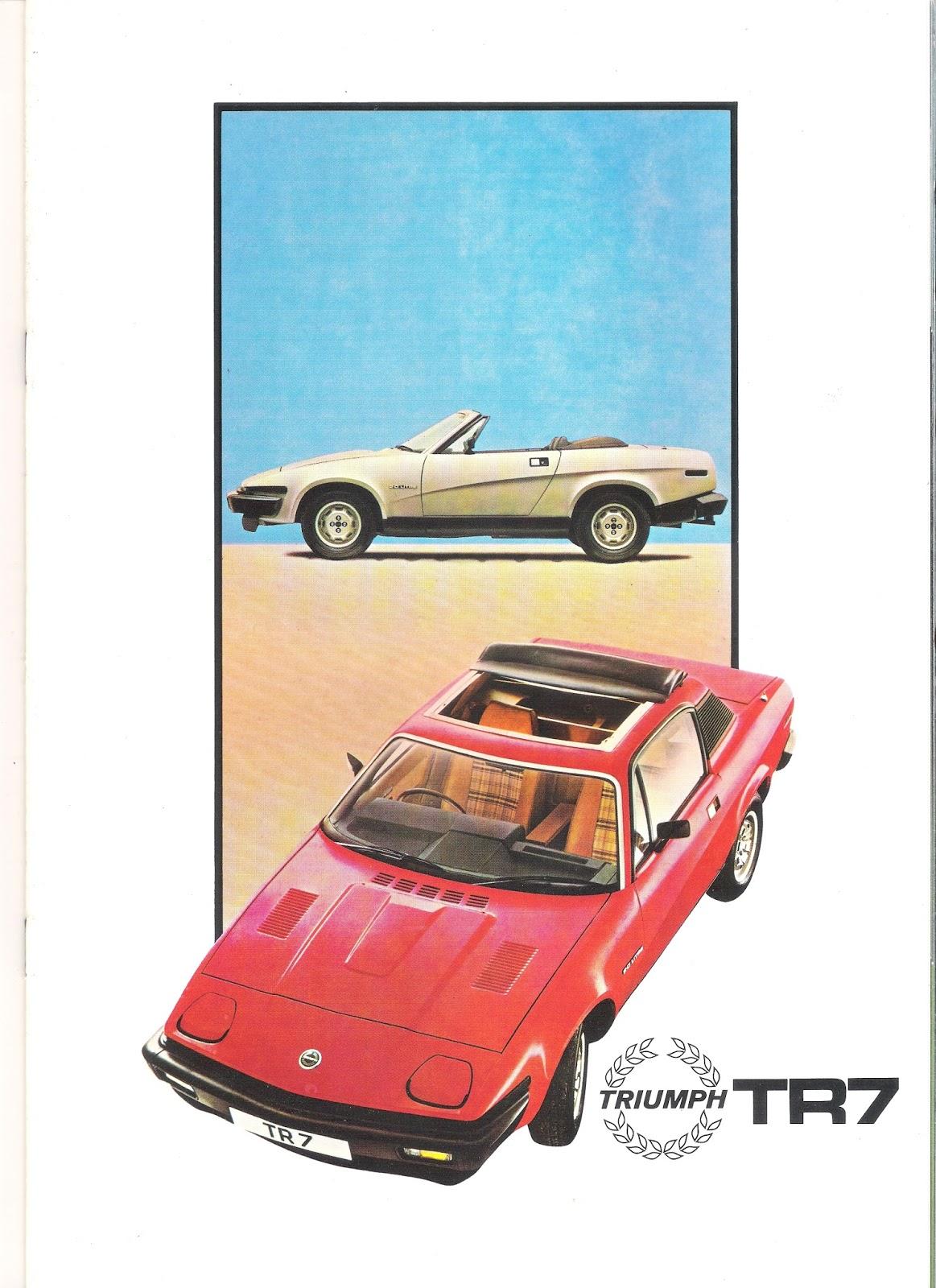 Triumph TR7 brochure front cover