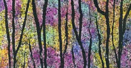 Into the Woods - a mixed media painting tutorial