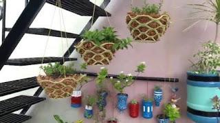 vas bunga dari sabut kelapa