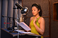 Actress Catherine Tresa Pos during Self Dubbing for Gautham Nanda Movie  0045.JPG