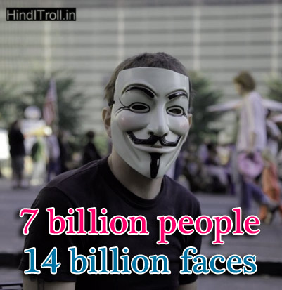 7 Billion People 14 Billion Faces English Quotes About Double