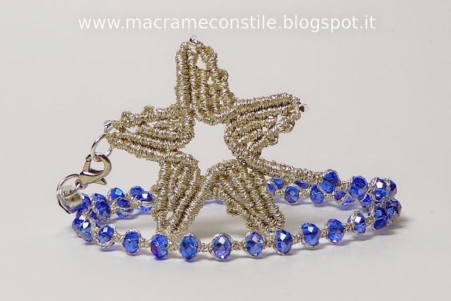 MACRAME MARGARETENSPITZE stella argento bracciale