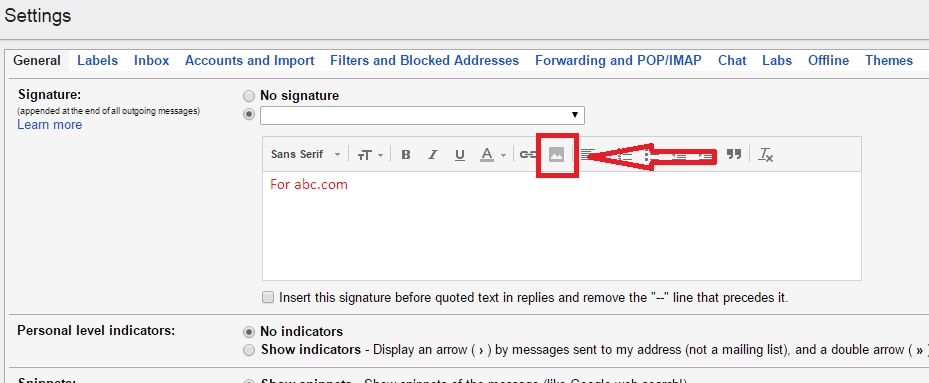 How to add signature in gmail account with logo