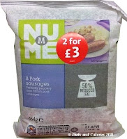 Morrisons NuMe reduced fat sausages