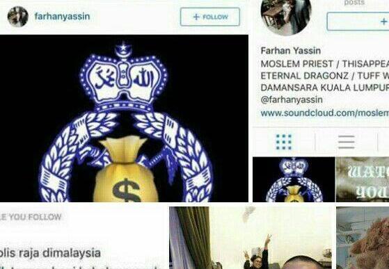 Letak tanda '$' pada logo polis, PDRM akan panggil anak Muhyiddin Yassin