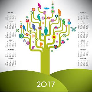 2017カレンダー無料テンプレート73