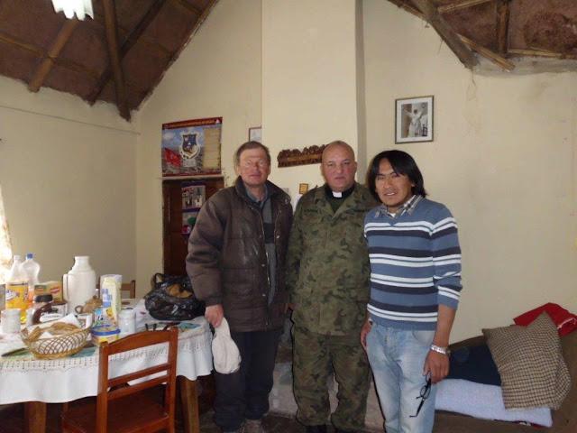 Claus, Coronel P. Casimiro und P. Iver vor dem Start zur chilenischen Grenze