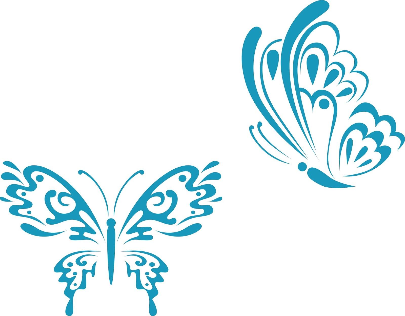 Free Vector Ornament Butterfly | Guru Corel