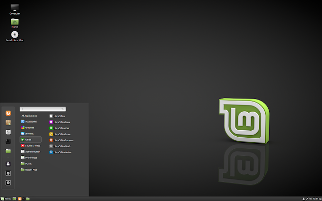 Linux Mint 18.1 Serena sendo executado