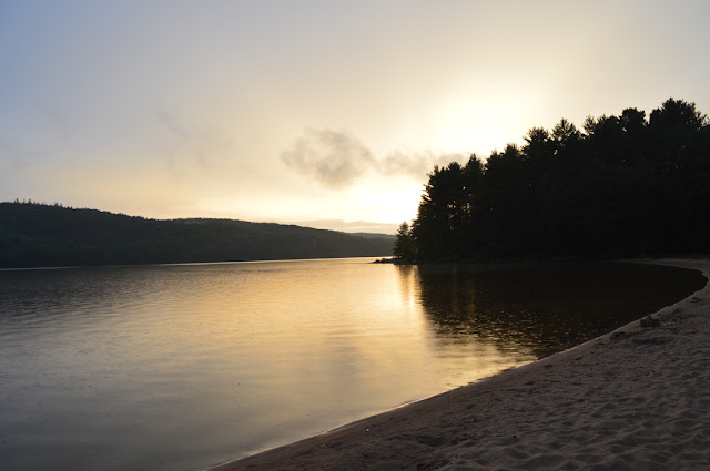 a lake in Algonquin Park at dusk