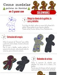 infografia tutorial diseño galletas navidad solidworks
