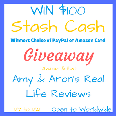 Enter the $100 Stash Cash Giveaway. Ends 1/21