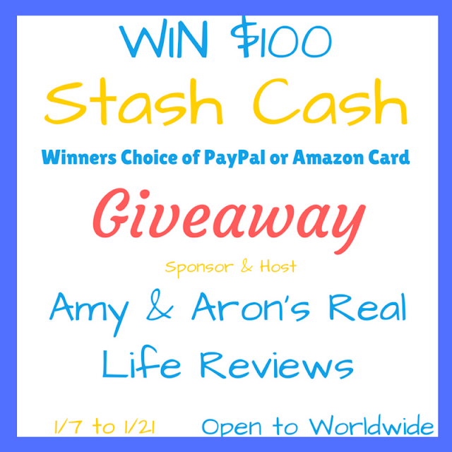 $100 Stash Cash Giveaway ~ Ends 1/21 @aarlreviews @bluedoorreviews