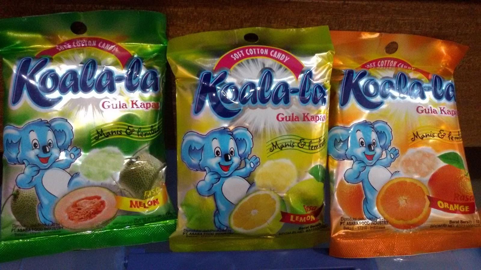 Hasil gambar untuk jajanan gula kapas koala