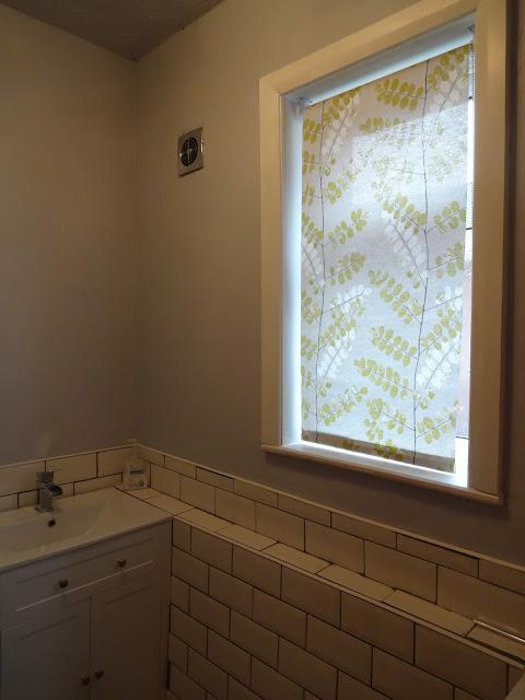 Grey Blind in Bathroom