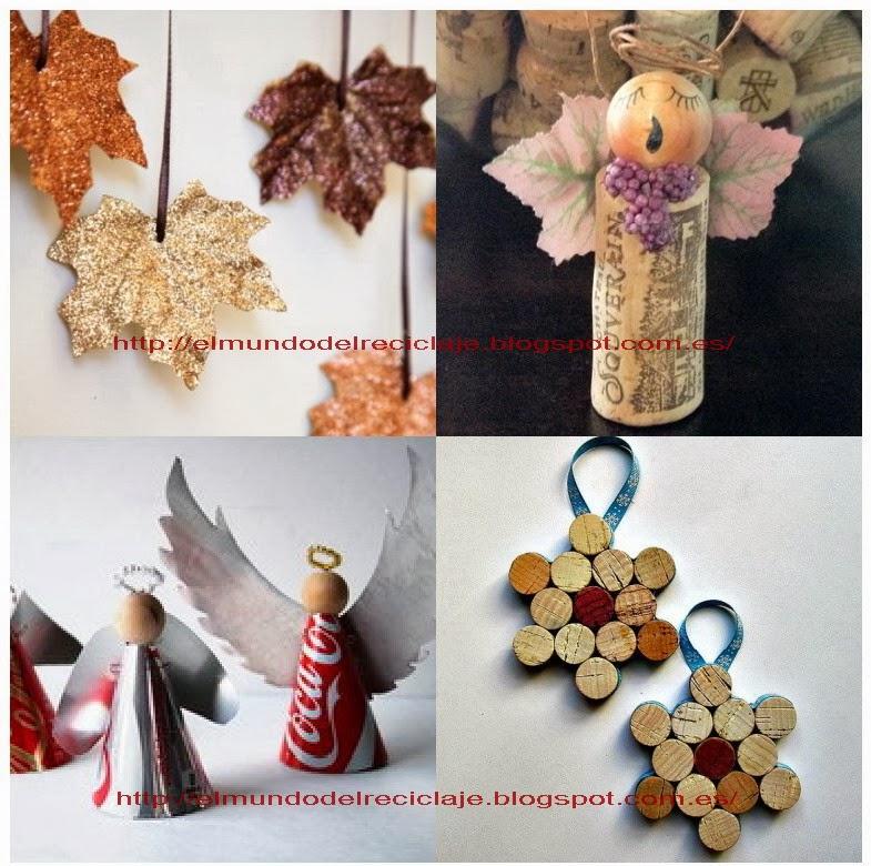 El mundo del reciclaje diciembre 2013 - Adornos navidad reciclados para ninos ...