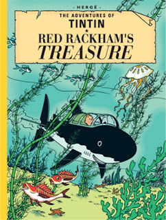 """The cover of """"The Adventures of Tintin: Red Rackham's Treasure"""""""