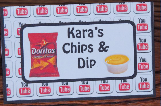 Chips And Dip Food Cards- Free Birthday Party Printables