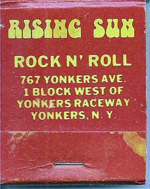 Rising Sun matchbook