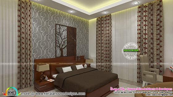 Upper bedroom interior design