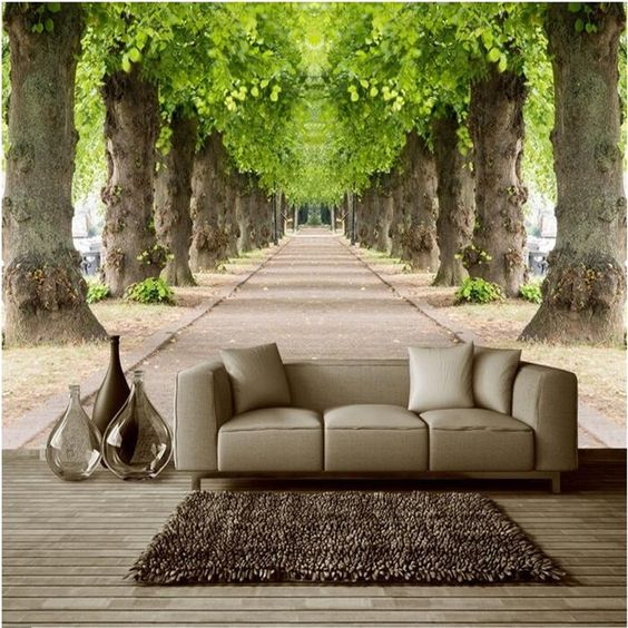 Fantasy 3d wallpaper designs for living room bedroom walls for Wall patterns for living room