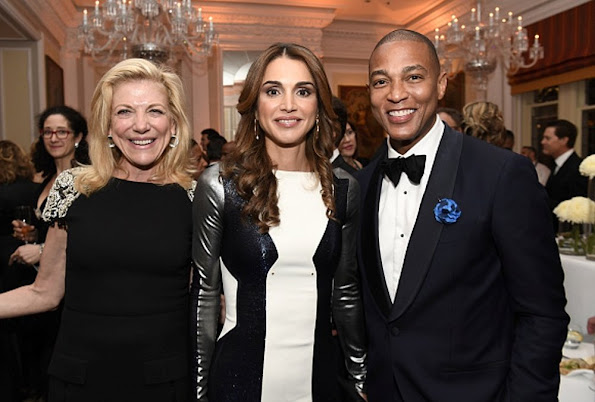 Queen Rania of Jordan attended the Bloomberg Vanity Fair White House Correspondents' Association (WHCA) cocktail reception