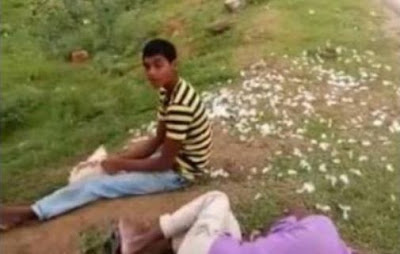 Drunken Man Eats Chicken Alive Telangana AP