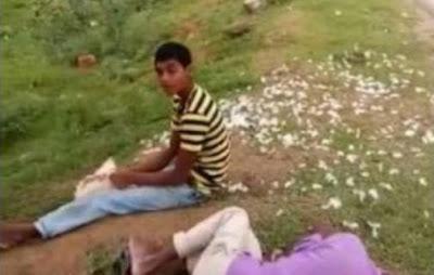 Drunken Man Eats Chicken Alive Telangana AP