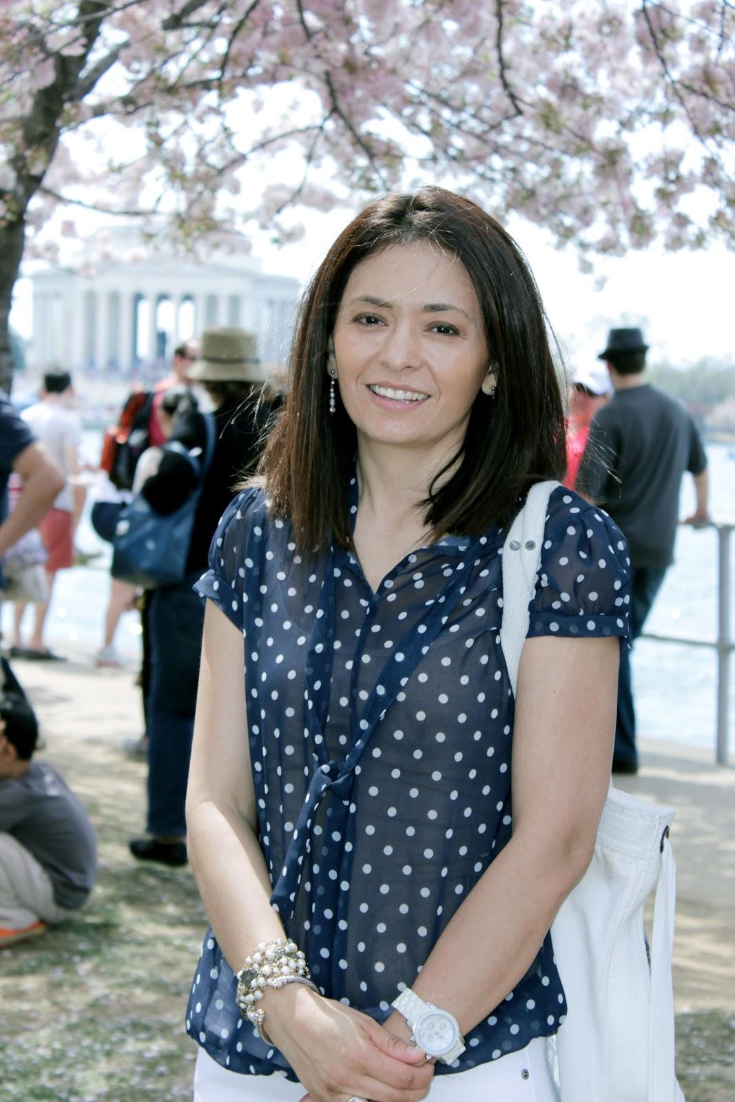 Cristina Garay at Cherry blossom festival Washington DC