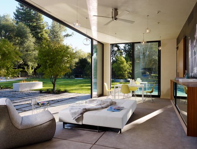 modern pool house in sonoma modern design by. Black Bedroom Furniture Sets. Home Design Ideas
