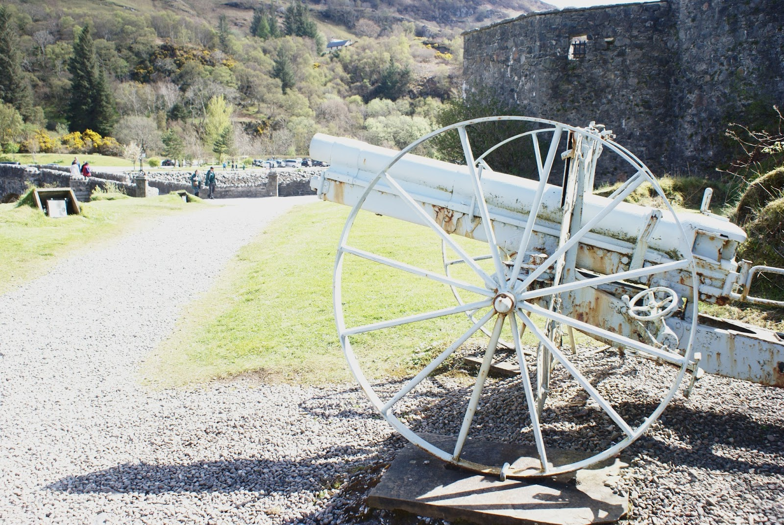 cannon eilean donan castle dornie scotland uk road trip travel united kingdom