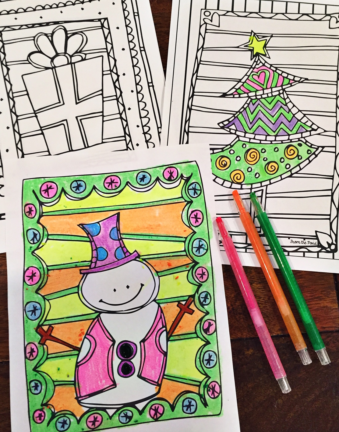 Christmas Coloring Pages | From the Pond
