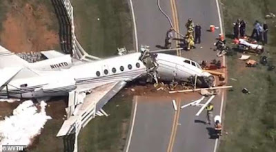 Private Jet Breaks Into Two After Speeding Off Runway, 2 Dead