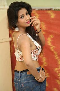 Deekshita Parvathi in a short crop top and Denim Jeans Spicy Pics Beautiful Actress Deekshita Parvathi January 2017 CelebxNext (59).JPG