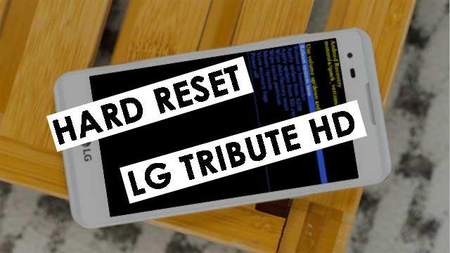 hard reset LG Tribute HD LG LS676