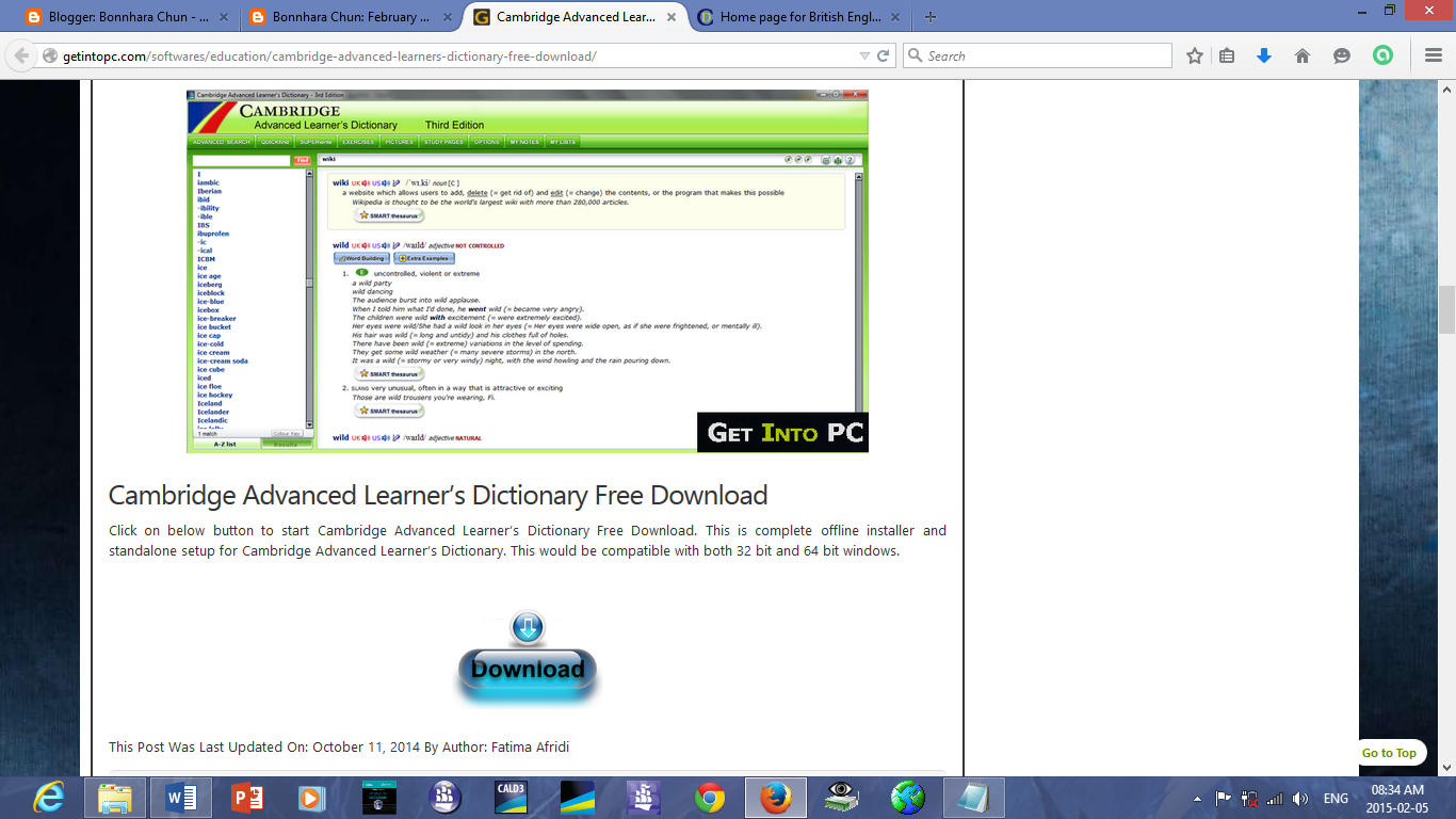 english dictionary download for pc