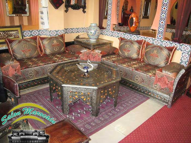 Salon marocain / salon marocain traditionnel luxueux