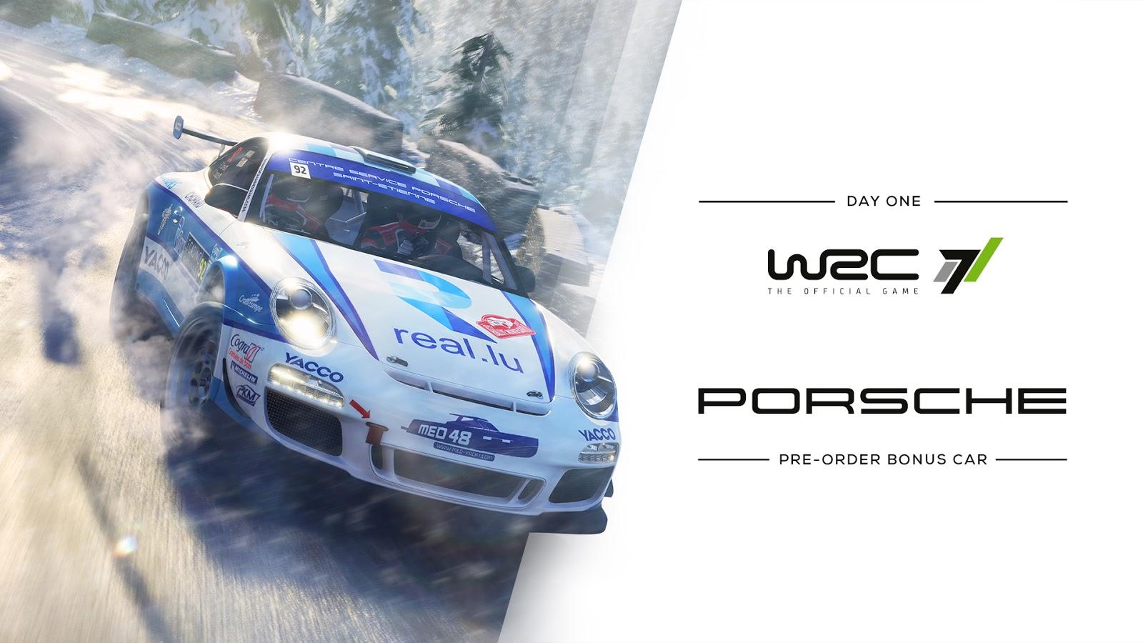 WRC 7 nos ofrece el Porsche 911 GT3 RGT como incentivo de reserva