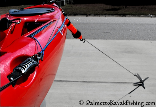 Palmetto Kayak Fishing Quick Release Diy Kayak Anchor