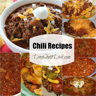 A collection of chili recipes from Deep South Dish blog.