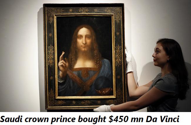 Saudi crown prince bought $450 mn Da Vinci
