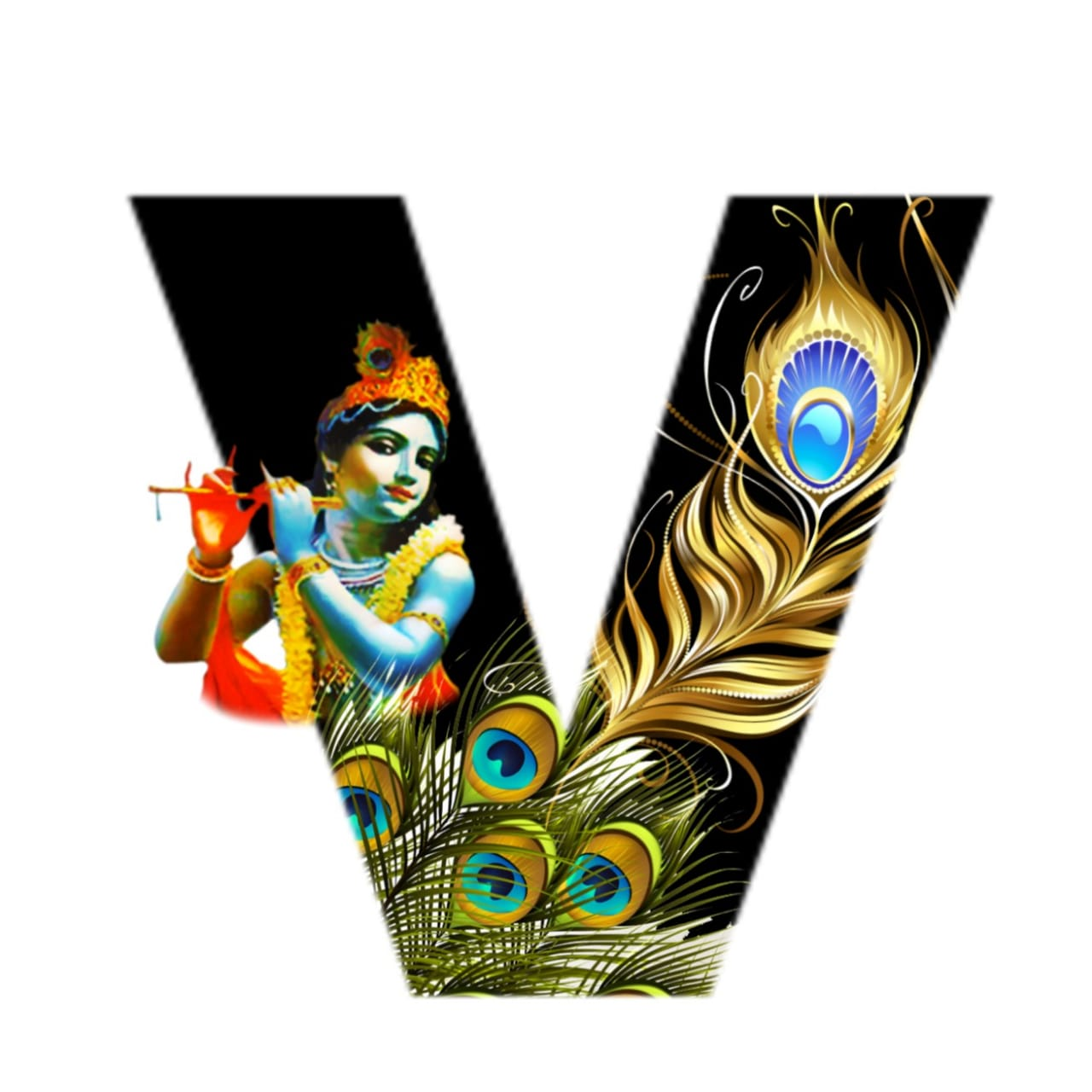 shree krishna alphabet v images