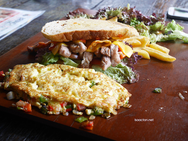 Part of BBP's new brunch menu set - BBP Omelette (RM20)