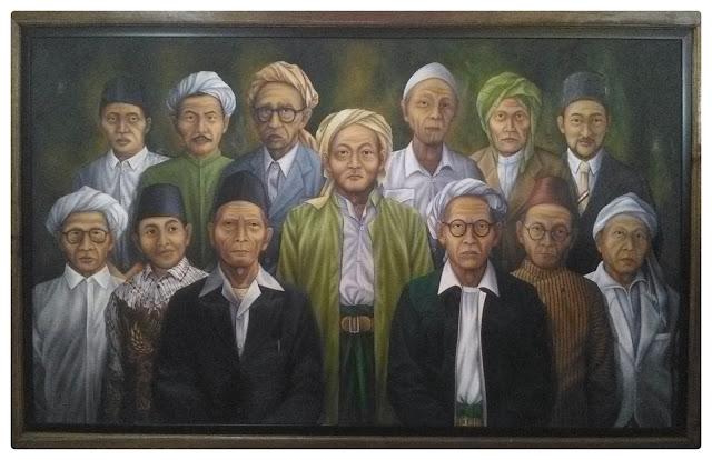 Lukisan Para Mu'siss NU Munas dan Konbes NU