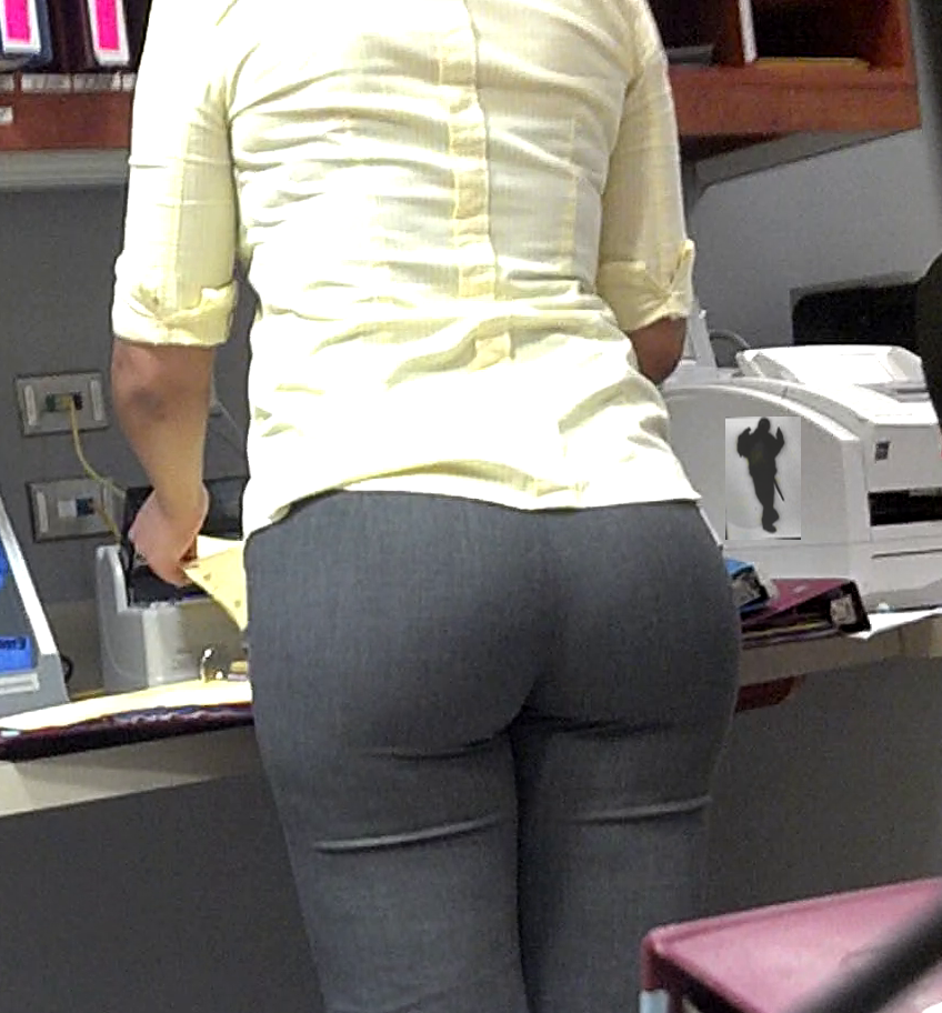 Big butt in office pants milfs