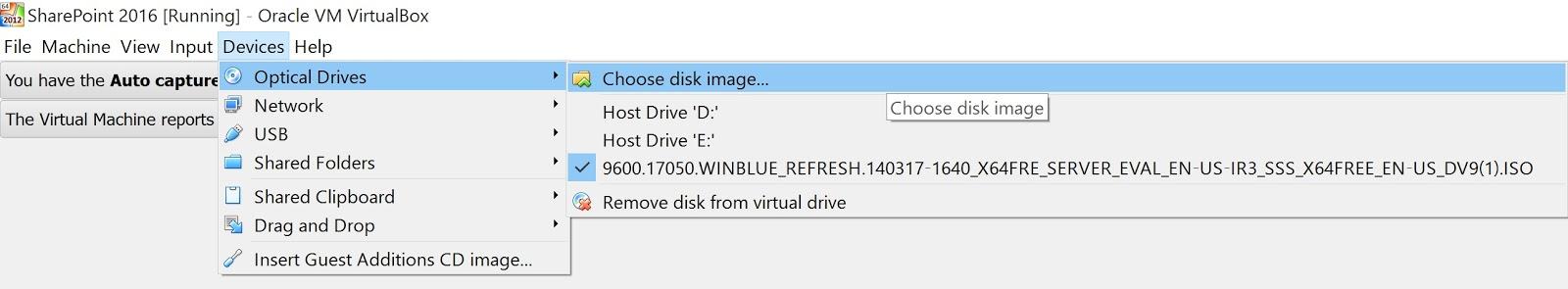 Creating Windows Server 2012 R2 VirtualBox VM for SharePoint 2016
